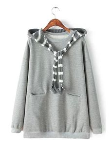 Solid Color Long Sleeve Pullover Hoody