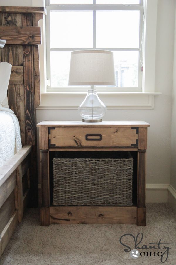 508 best images about woodworking plans on pinterest for Homemade nightstand ideas
