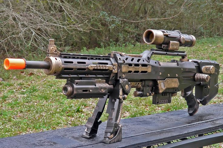 """HADES"" extended range rifle MkIIIc (Nerf Longshot CS-6)   by Time Gypsies"