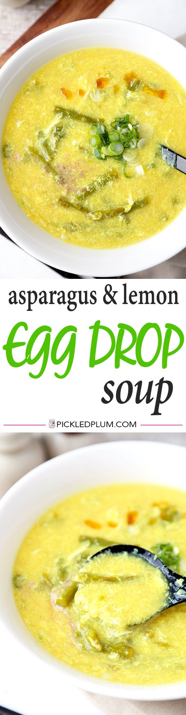 Asparagus and Lemon Egg Drop Soup
