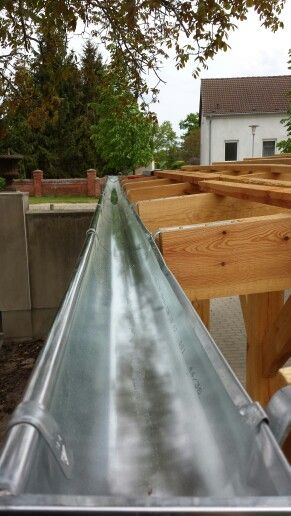 First time installing Rain Gutters.