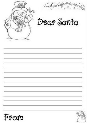 dear santa pinteres With dear santa template kindergarten letter