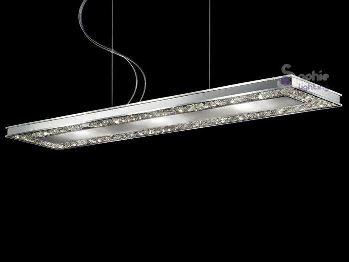 Lampadari Salotto Led ~ Idee per il design della casa -> Lampadari Moderni Rettangolari