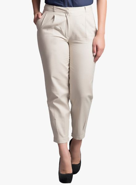 Buy Fabels by fabindia Cream Solid Pant for Women Online India, Best Prices, Reviews   FA050WA74HNLINDFAS