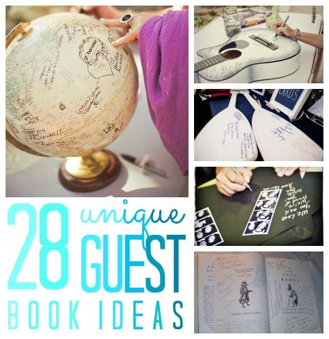 Unique Guest Book Ideas via C.R.A.F.T.