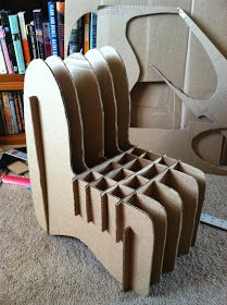 Polka Dotted Pony : Cardboard Chair