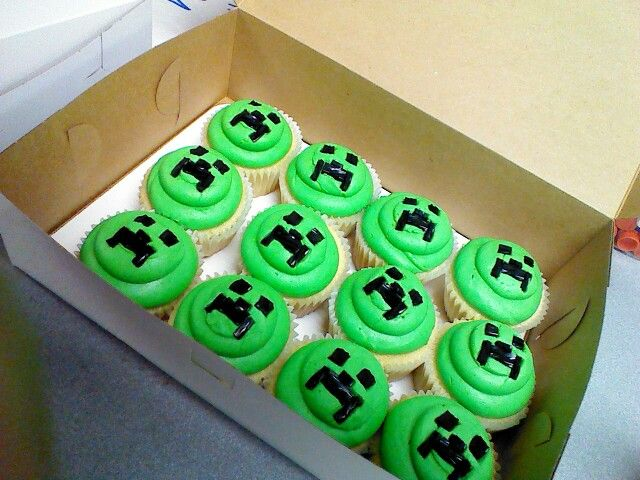 Minecraft cupcakes (My next cupcake order... this'll be interesting)