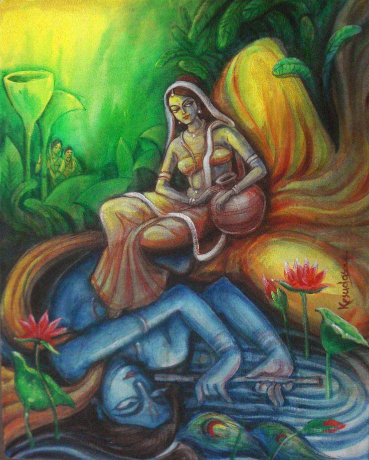 radha rani as the moon   Radha: Krishna is Radha's Reflection