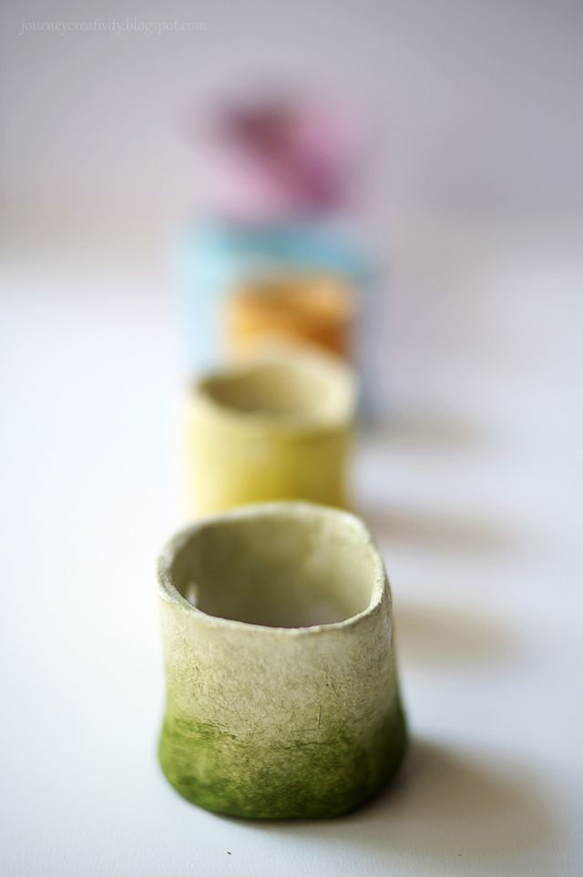 Air dry clay mini pots | journeycreativity.blogspot.com ...