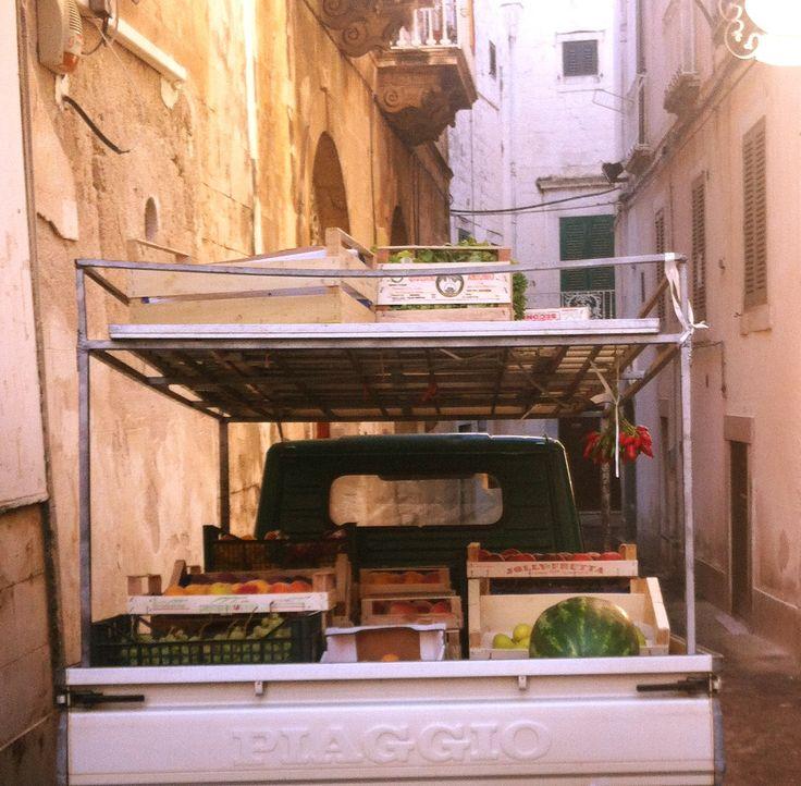 Fruit + Veg stand to go in Ostuni, Puglia