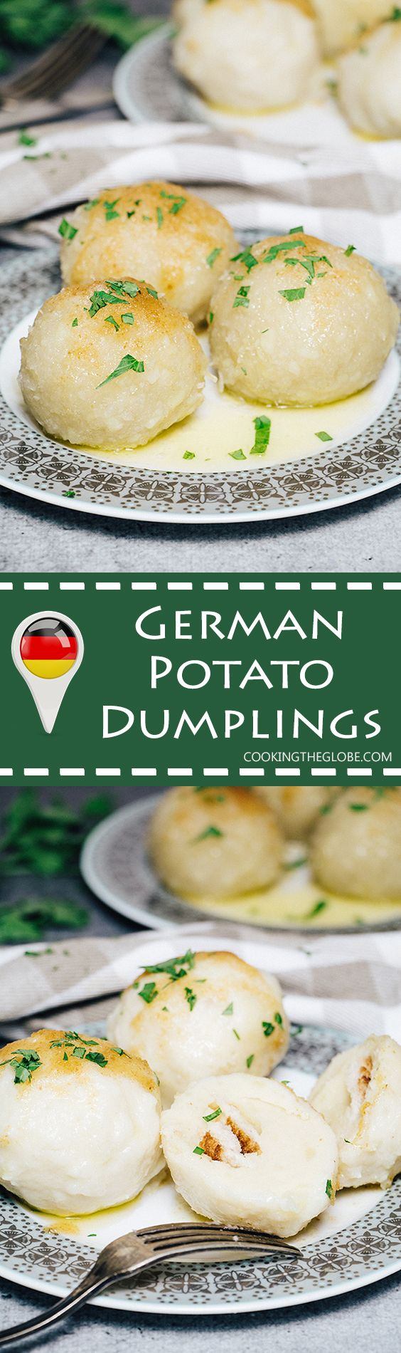 German Potato Dumplings, also known as Kartoffelkloesse, make a perfect side dish to literally anything but are also great as a standalone dish! | cookingtheglobe.com