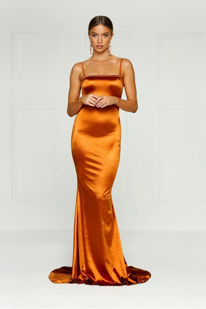 Alamour The Label - Lesiya Gown - Golden Rust