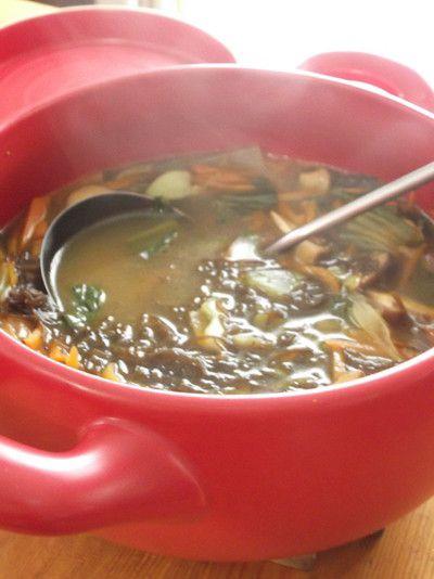 たっぷり野菜ともずくの和風カレースープ by まんまるらあてさん ...