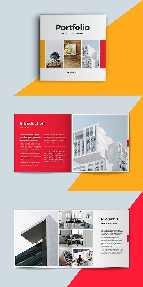 square portfolio brochure template brochure templates pinterest