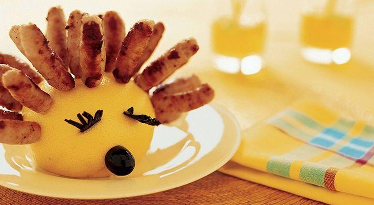 Sausage Hedgehog Party Snack Recipe Ingredients Large black olive, stoned 1 large grapefruit Cocktail sticks[...]