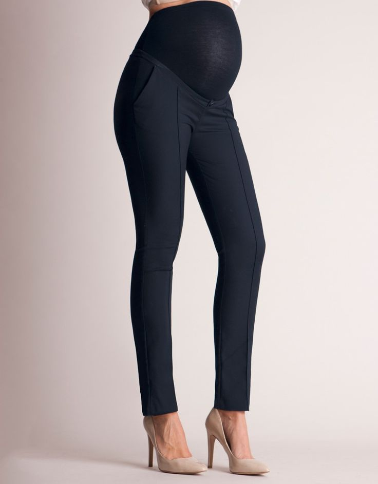Slim Fit Navy Maternity Pants
