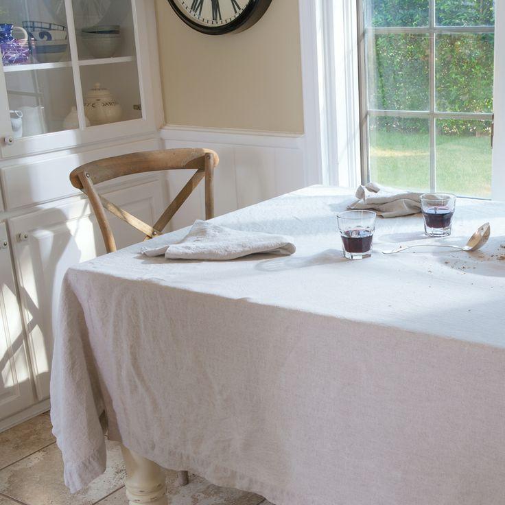 Natural Linen Rectangular Tablecloth