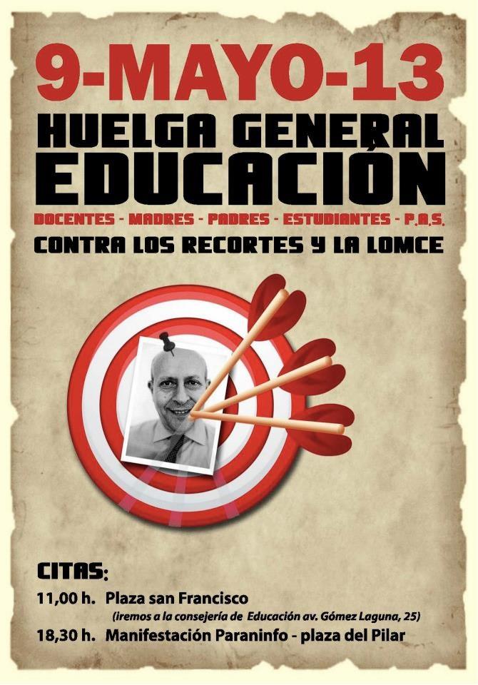 9-MAYO-13 Huelga General Educación