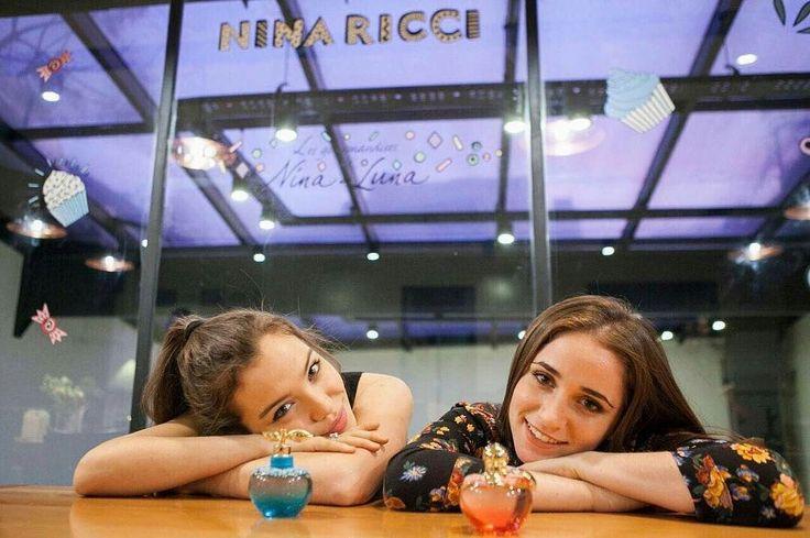 Carolina Kopelioff y Malena Narvay promocionando perfumes #Nina y #Luna de Nina Ricci