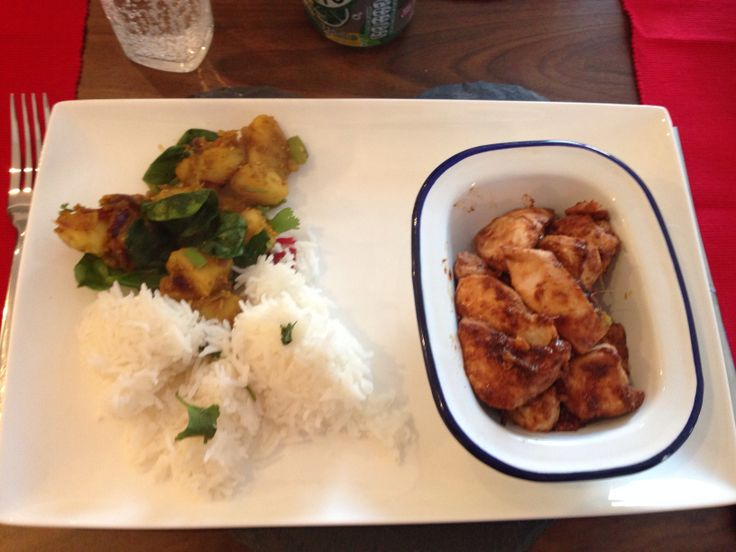 Asian fusion time Ginger, chilli & lime marinated chicken with ...