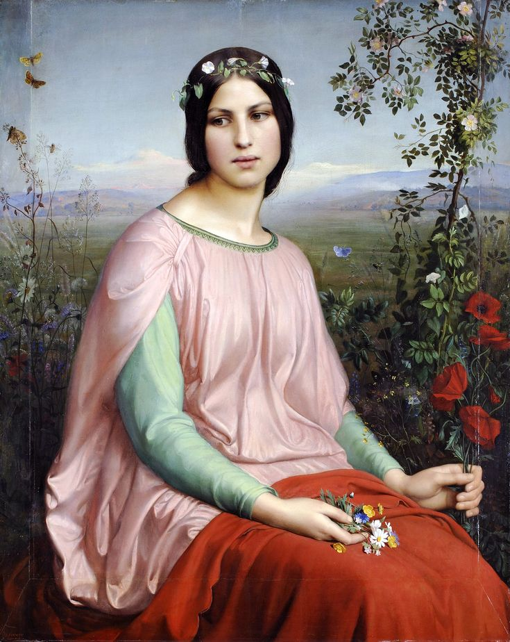 Louis Janmot (French, 1814-1892). Flowers of the Field, 1845
