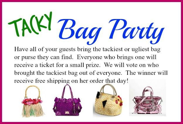 Contact me to schedule your Tacky Bag Party Kathy Bowen, Independent Creative Leader with Initials inc located in Maryland pursepartybiz@gmail.com 410.200.7704