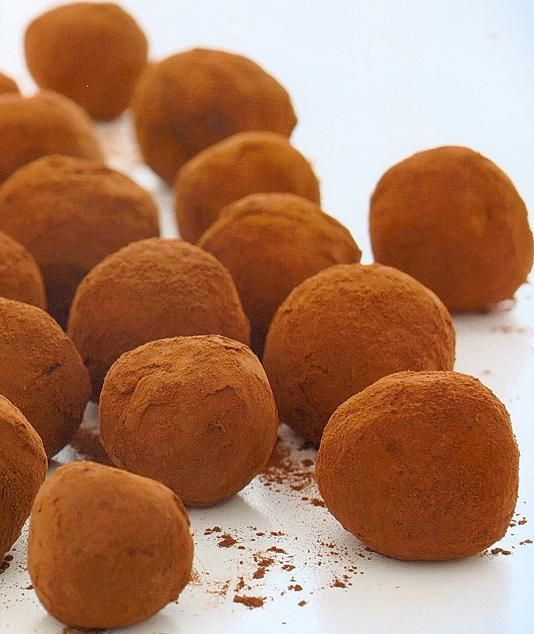 Truffles with a difference. They use digestives to make the truffles less rich and more like a biscuit.