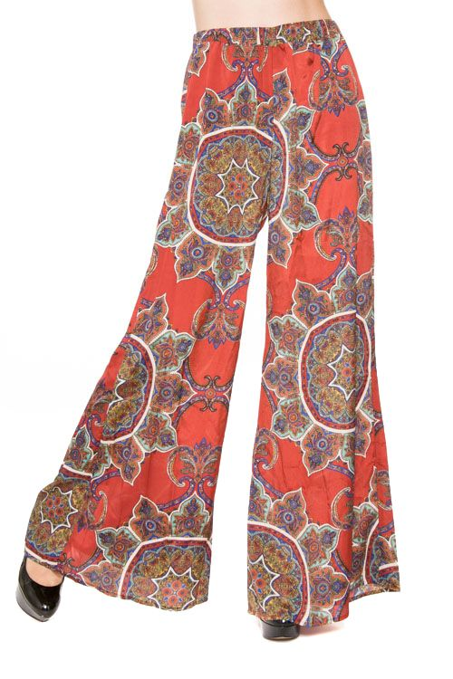 Rust Paisley Print Pants www.southernragsclothing.com Facebook: Southern Rags Clothing