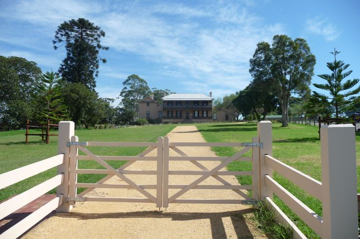 Brush Farm, Eastwood/West Ryde, Sydney - Gregory Blaxland's estate, with reinstated garden from the 2000s, infilling 1820s+ homestead. Araucaria sentinels and views for miles off the ridgeline looking south. Good news story after many mishaps.