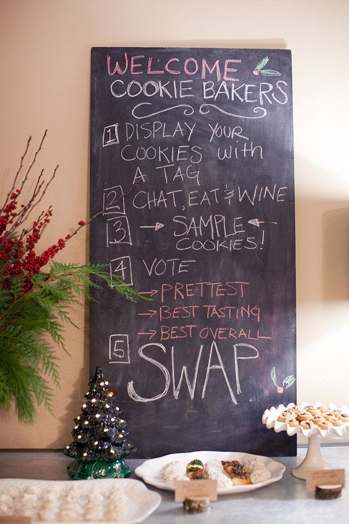 The rules of the cookie swap!
