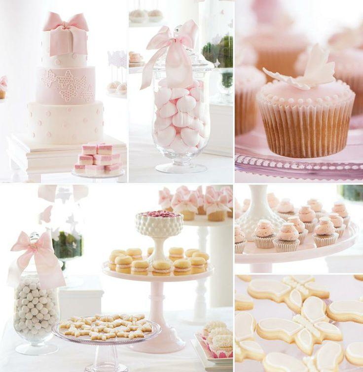 Dreamy Pink Dessert Table (Butterflies & Polka Dots)