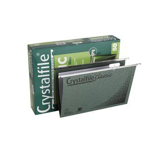Crystalfile Classic Foolscap Suspension Files Box of 50 | Officeworks
