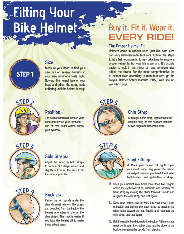 Your Step By Step Guide To The: Ride Your Bike Safely Tips From Healthfinder.gov And