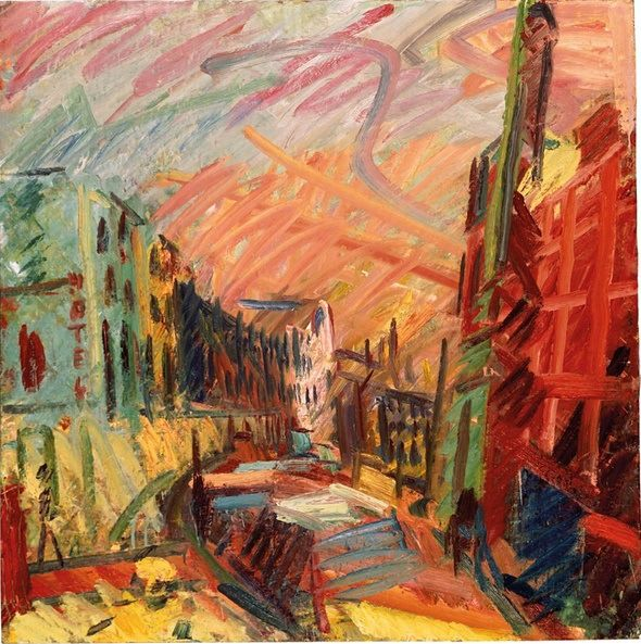 Frank Auerbach Mornington Crescent 1991: