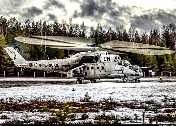 Russian Mi-24P in United Nations.