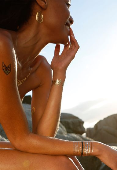 Africa Collection | Shine-Ink Temporary Metallic Tattoos