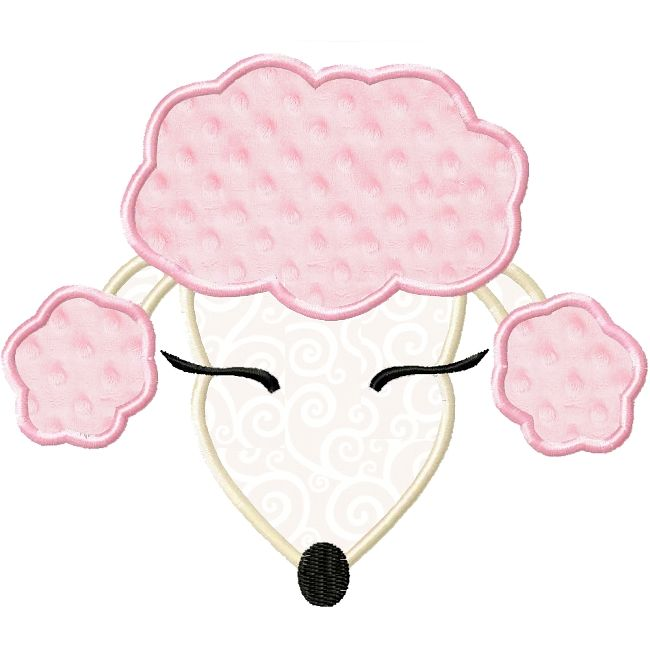 Paris pretty fifi poodle applique pink poodles for Poodle skirt applique template