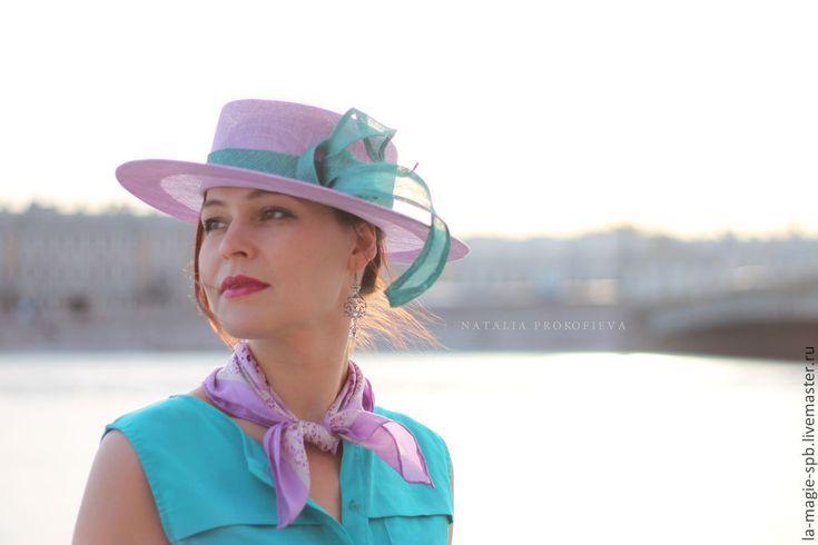 """Купить Канотье """"Santa Lucia"""" (Санта Лючия) - сиреневый, однотонный, канотье, летняя шляпа"""