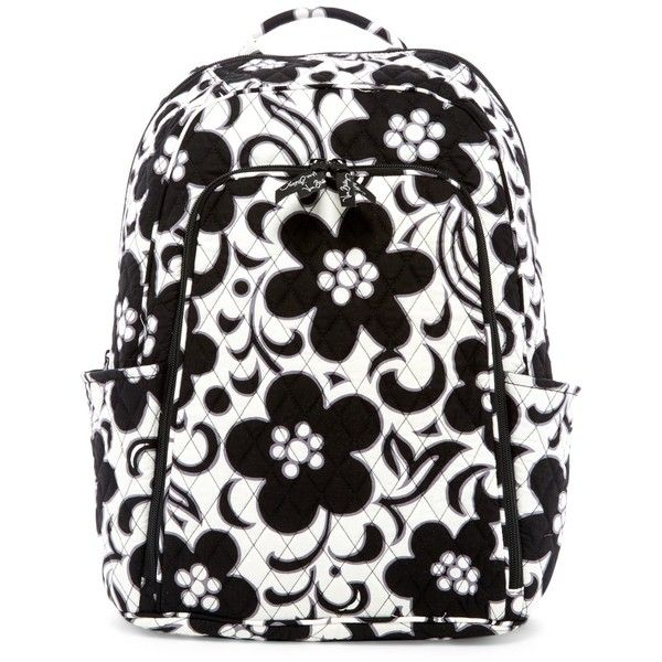 Vera Bradley Laptop Backpack ($55) ❤ liked on Polyvore featuring bags, backpacks, night and day, laptop bags, vera bradley backpack, quilted backpack, vera bradley and quilted bag