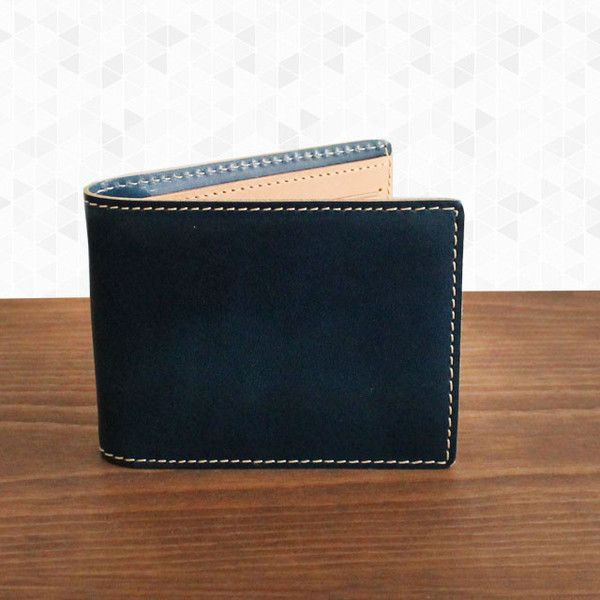 Leather Slimfold Wallet - Scatter Lines by VIDA VIDA t9TV43