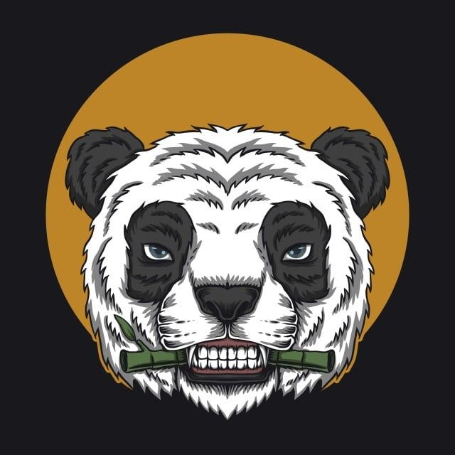 Panda Eat Bamboo Head Vector Illustration Adorable Anger Angry Png And Vector With Transparent Background For Free Download Ilustrasi Lucu Ilustrasi Desain Logo