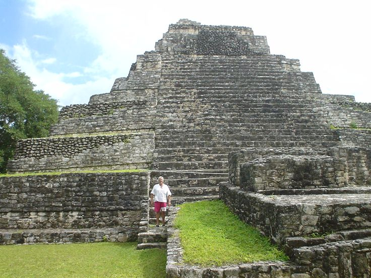 Temple at Maya site of Chacchoben.