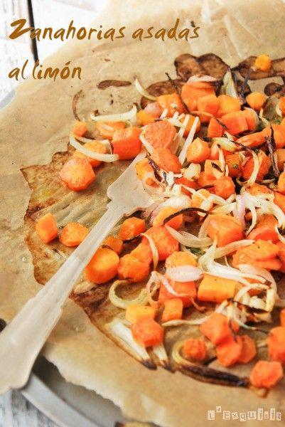 Zanahorias asadas al limón - L´Exquisit