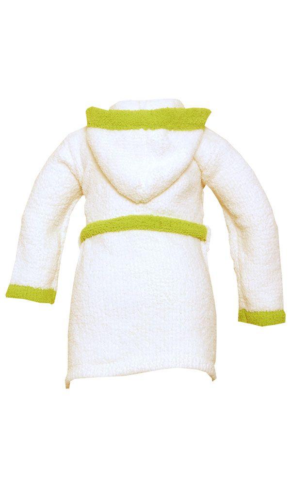 Kashwere Komfy Kids Cream and Green Cover-ups