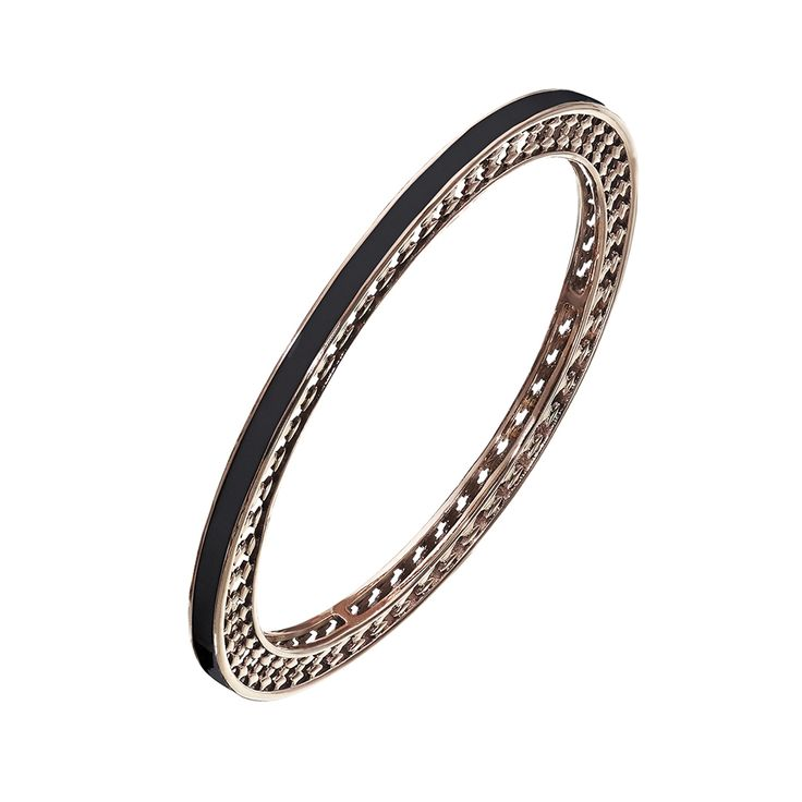 Oxettissimo Black Bracelet - Available here http://www.oxette.gr/kosmimata/vrahiolia/stainless-steel-rosegold-plated-blc-bangle-oxette675l-1/ #oxette #OXETTEring #jewellery