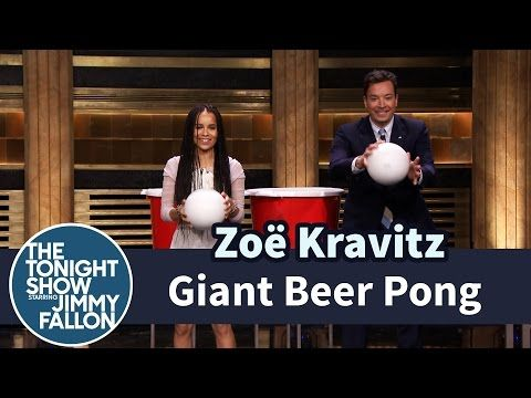 The Tonight Show Starring Jimmy Fallon: Giant Beer Pong with Zoë Kravitz