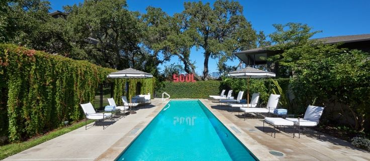 Austin Texas. The coolest places to Eat, Play, Shop and Stay! www.styleblueprint.com I Hotel pool St Cecilia Austin TX