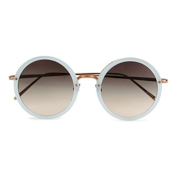 Linda Farrow Women's Round Matt Sunglasses with Grey Lens - Iris (485 CAD) ❤ liked on Polyvore featuring accessories, eyewear, sunglasses, glasses, fillers, lentes, square lens sunglasses, gray sunglasses, rounded sunglasses and linda farrow sunglasses