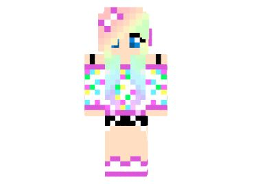 Minecraft Confetti Girl Skin - Azminecraft.info