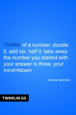 Tweeling of the Day #67 Think of a number and blow your mind!